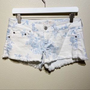 AE Floral Cut Off Shorts | Stretch! | Size 4